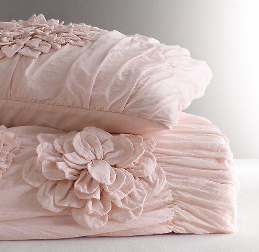 Washed Appliquéd Fleur Duvet Cover | Duvet Covers & Shams | Restoration Hardware Baby & Child