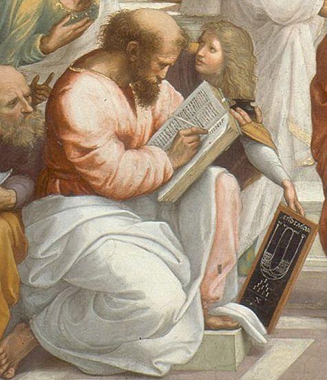 Raffaello-Scuola di Atene(dettaglio Pitagora ),Stanza della Segnatura,Musei Vaticani