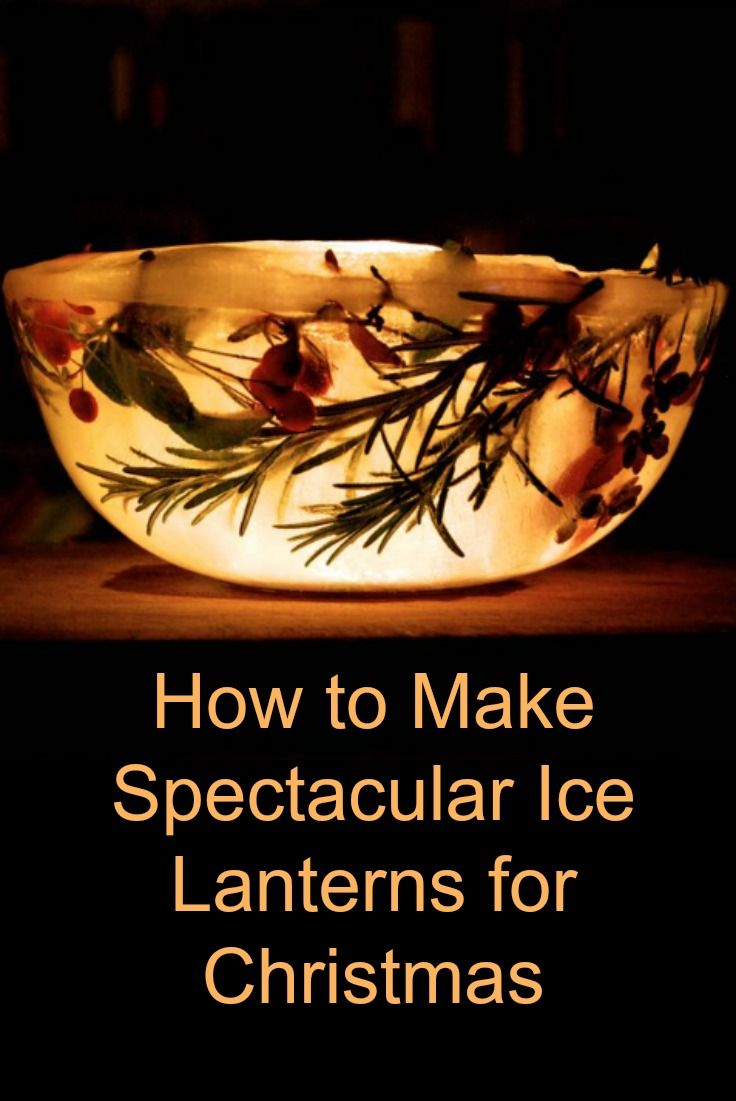How to make ice lanterns for Christmas - a total show stopper! We love making these all natural Christmas decorations every year and leave them outside to help Santa find us!