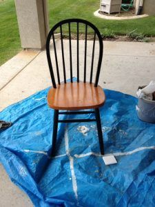 Ombre Windsor Chairs