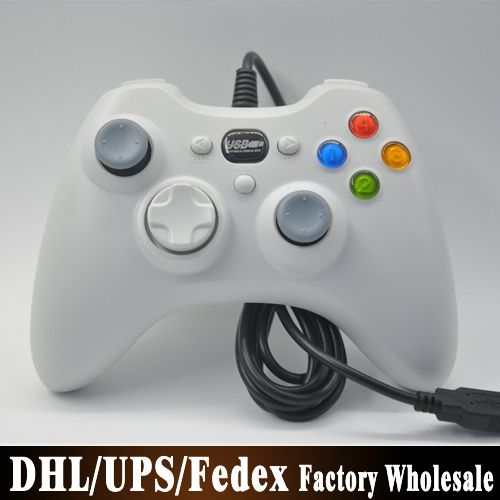 (wholesale) 100pcs/lot Wired Game Controller Joystick Gamepad Looks Like a Xbox 360 Controllers for PC Computer Laptop US $610.00 /lot (100 pieces/lot) To Buy Or See Another Product Click On This Link  http://goo.gl/EuGwiH