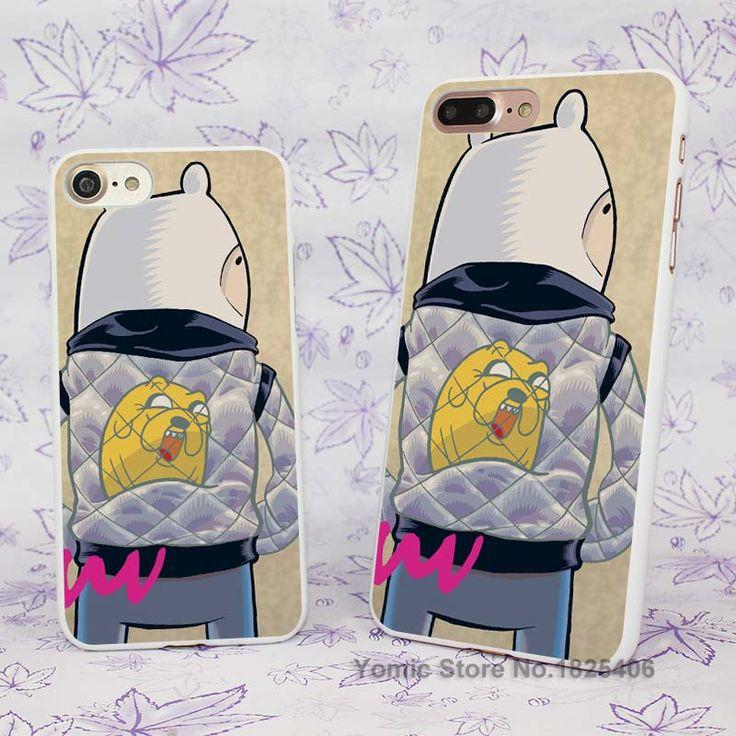 Adventure Time jack finn Fan Art Design hard White Skin Case Cover for Apple iPhone 7 6 6s Plus SE 5c 5 5s 4 4s