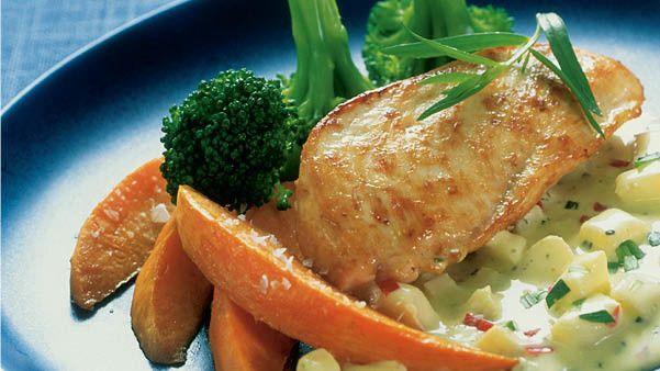 Ukens oppskrift: Kylling med ovnsbakt søtpotet