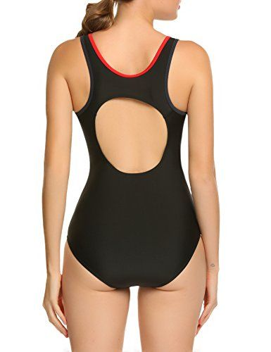 1a3c3fb400 ADOME Athletic One Piece Swimsuit Womens Backless Bathing Suit S-XXL ...