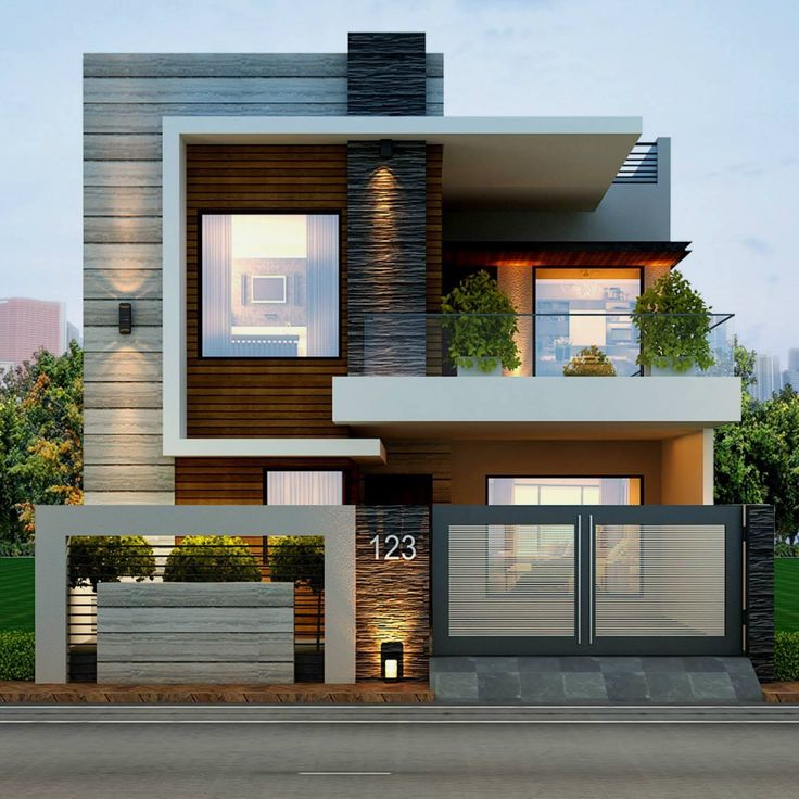Best 25 house elevation ideas on pinterest villa design for Front elevation modern house