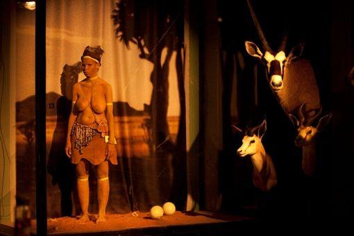 Photos of Exhibit A: Deutsch-Südwestafrika Installation by Brett Bailey