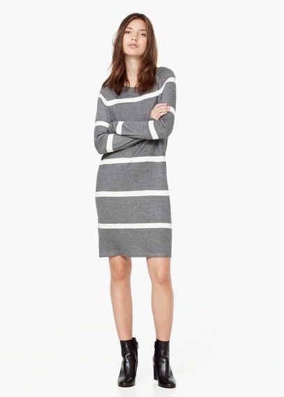 Vestito maglia righe | MANGO