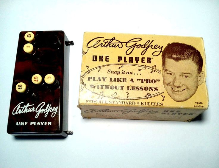 Vintage Arthur Godfrey Brown Uke Player