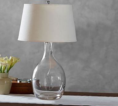 grant glass table lamp potterybarn
