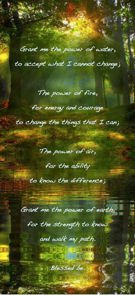 I think this quote has been adapted from a traditional Celtic prayer. It's a different way of thinking about the elements.