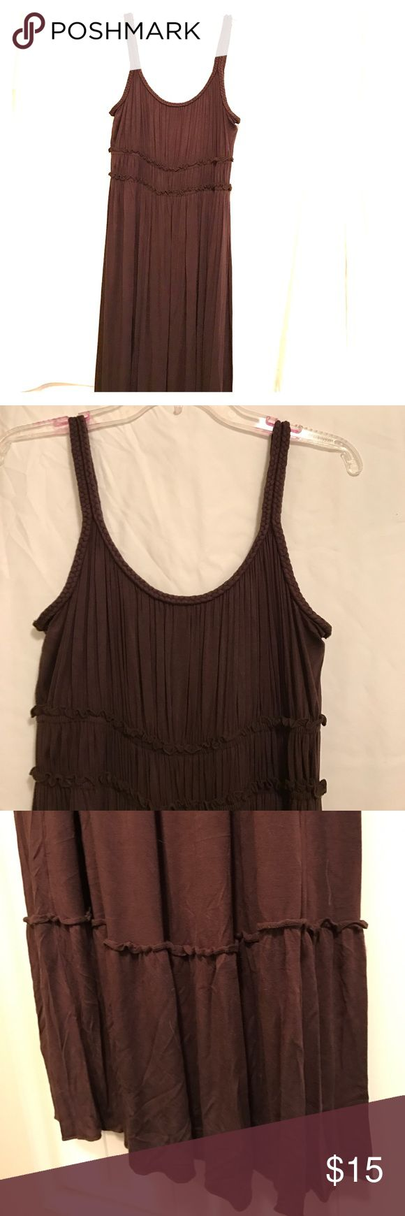 Brown Maxi Dress Super cute brown Maxi dress with braided straps Spense Dresses Maxi