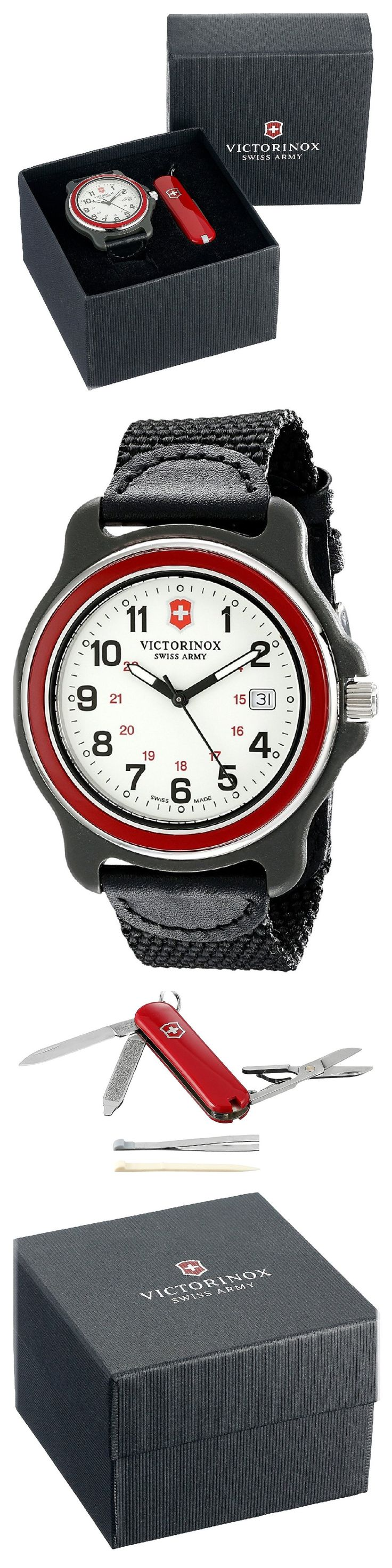 Get ready for adventure: Victorinox Watch with Army Knife. Victorinox Swiss Army constantly enhances its timepiece lines with new design elements and innovative functions while seeking creative ways of upgrading existing components to enhance their capabilities. #Victorinox #KhaValeri  www.pinterest.com/KhaValeri/     kha_amz_VICkni1701_v7