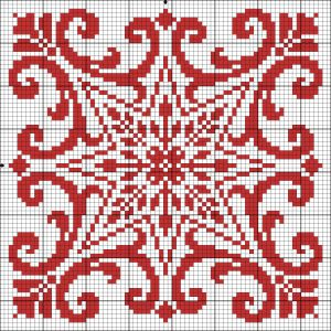 Square 65 | Chart for cross stitch or filet crochet.