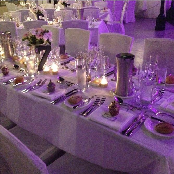 Wedding Table Settings In Seasalt Restaurant At Crowne Plaza Terrigal Sydney Beach
