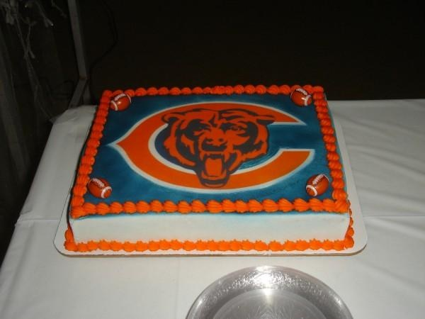 Cool Chicago Bears Wedding Cake Topper Funny Birthday Cards Online Fluifree Goldxyz