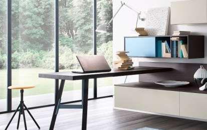 Arredare ufficio in casa - Soggiorno con angolo studio