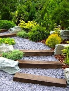 rustic front garden design for australian gentle slope google search
