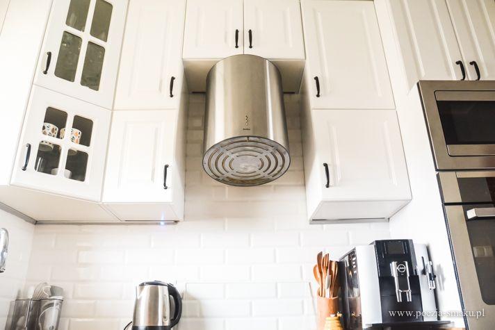 Białe kafelki typu metro (Paradyż Abisso Bar White) + białe szafki w kuchni / White Metro-style Tiles in Kitchen