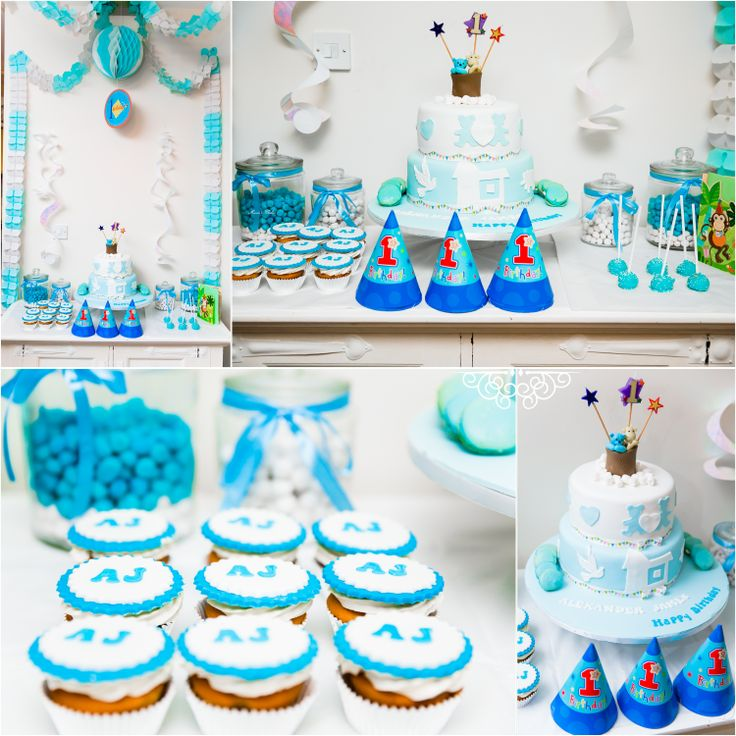 1st Birthday Baby Boy Party Idea Baby Boy Birthday Pinterest
