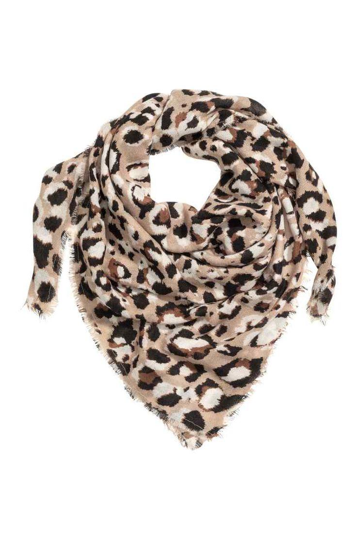 Lenço estampado - Estampado leopardo - SENHORA | H&M PT