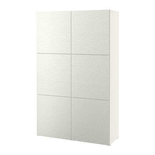 BESTÅ Storage combination with doors, Laxviken white Laxviken white 120x40x192 cm -