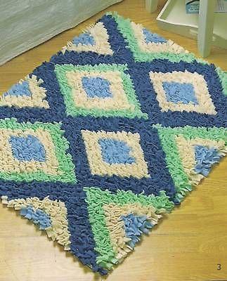Latch-hook rug patterns, make rugs w/ fleece! rugmaking