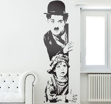 Vinilo decorativo Candilejas Chaplin