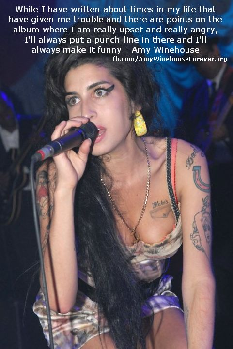 #amywinehouse quote from songs or about music