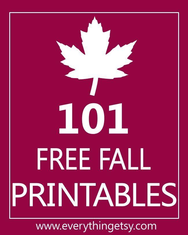 101 Free Fall Printables {DIY Goodness}