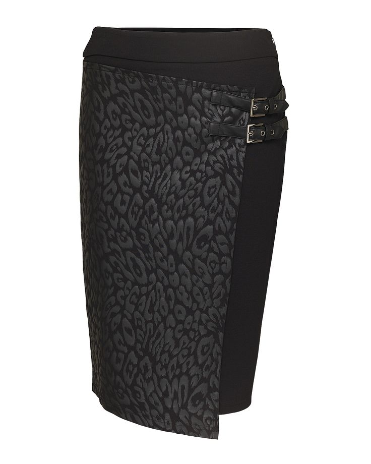 Zwarte rok met luipaardprint Dolce Vita   Kennedy Fashion