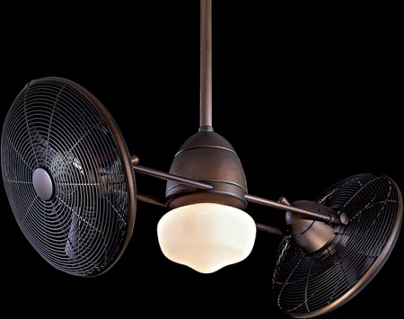 Featuring Two Gyro Style Cage Fans, Each With A 360 Degree Rotation, This  Ceiling Fan Has An Oil Rubbed Bronze Finish And Is Rated For Wet Locations.