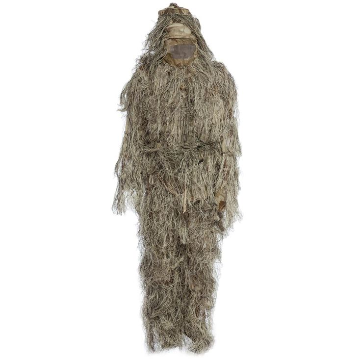 CS Camouflage Suits Set 3D Bionic Leaf Disguise Uniform Hunting Woodland Sniper Ghillie Suit Hunting Jungle Military Train Cloth