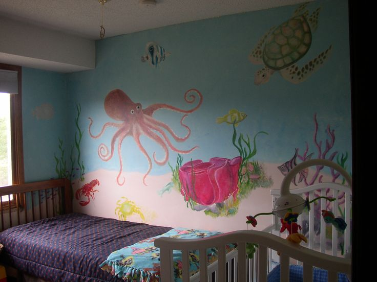 22 best ideas 4 sarah images on pinterest bedrooms for Underwater mural ideas