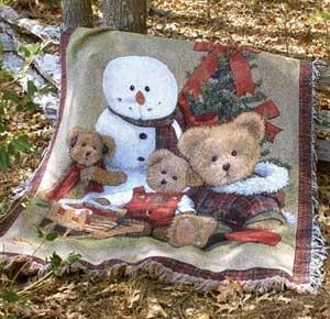 Country Christmas Decor - Christmas Holiday Throws and Pillows Country Decor | Country Cottage Decor