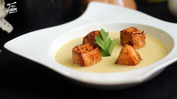 Vychissoise con salmón fresco Teriyaki, os encantará