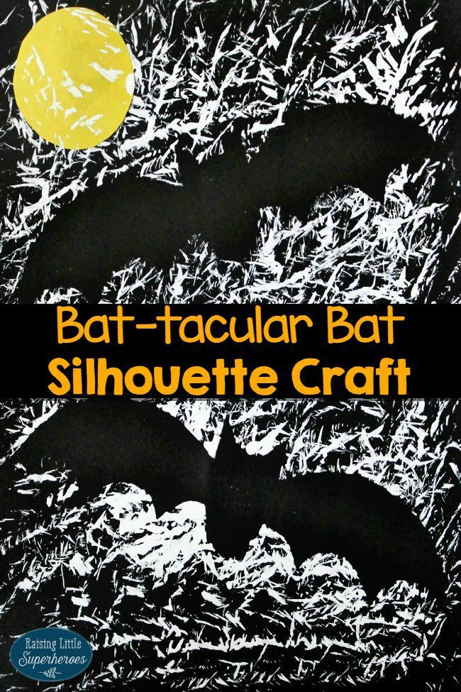 Children will enjoy decorating the house with this Bat-tacular Bat Silhouette Craft.  This Halloween craft is easy-to-make and kids will have so much fun painting with a... Click to find out!