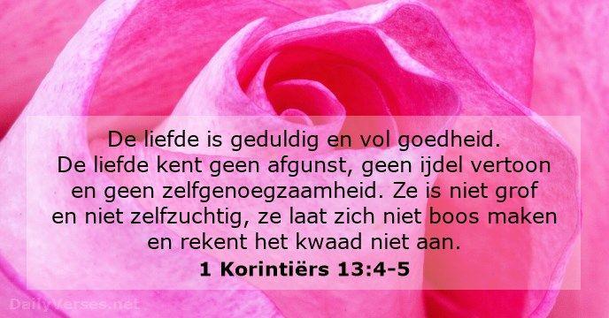 1 Korintiërs 13:4-5 - dailyverses.net