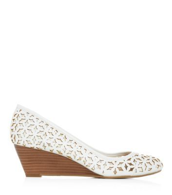 White Cut Out Court Wedges