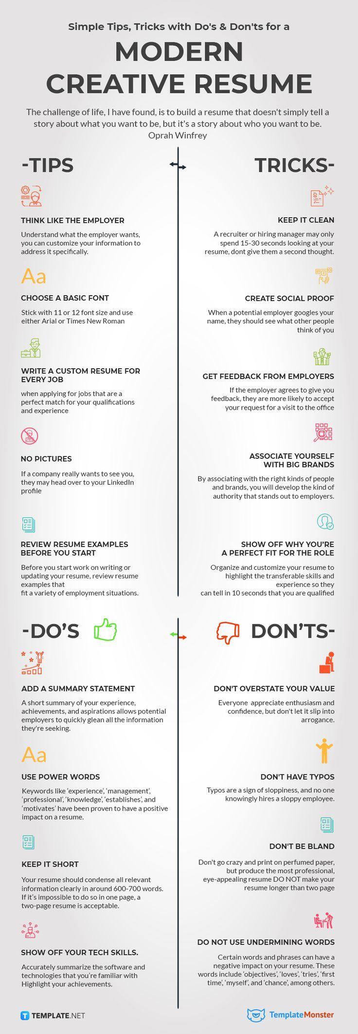 How to Create a Modern Creative Resume [Infographics