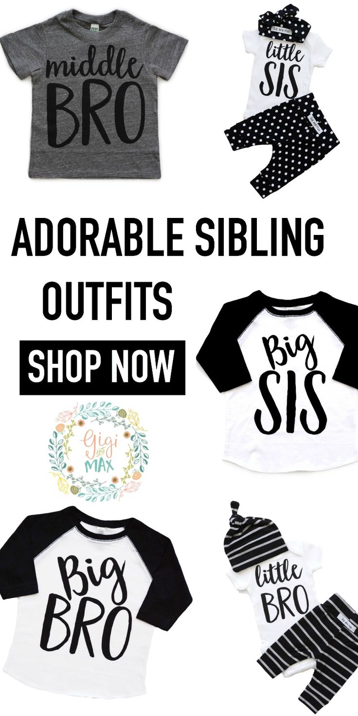 Cutest sibling shirts at Gigiandmax.com!