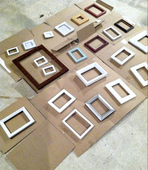 How to paint old mis-matched picture frames