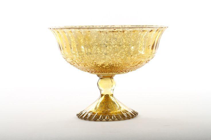 Antique Glass Compote Bowl Pedestal Flower Bowl Centerpiece