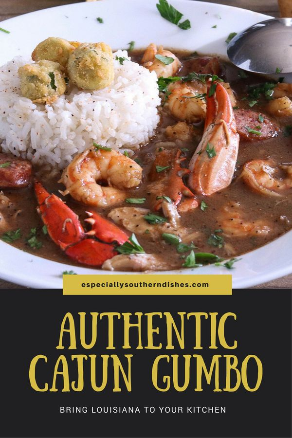 """Authentic Cajun Gumbo  Nothing says """"Big Easy"""" like Gumbo. You'll fall in love with this hearty yet adaptable recipe and it's southern aromatic flavors."""