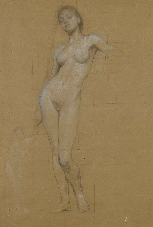 Nude study by Herbert James Draper Art Curator & Art Adviser. I am targeting the most exceptional art! Catalog @ http://www.BusaccaGallery.com