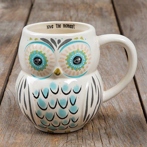 Love The Moment Folk Owl Mug Ceramic mug is dishwasher and microwave safe and…