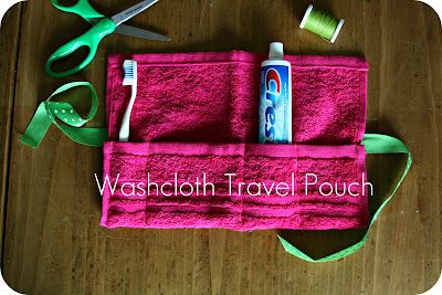 Gym Bag!!!--- WhiMSy love: DIY: Washcloth Travel Pouch