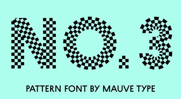 checkered font