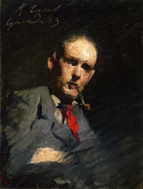 Ramon Casas (Catalan, 1866-1932), Tom Roberts, 1883. Oil on canvas. National Gallery of Victoria, Melbourne. /   Tom Roberts (1856-1931) was an Australian painter.