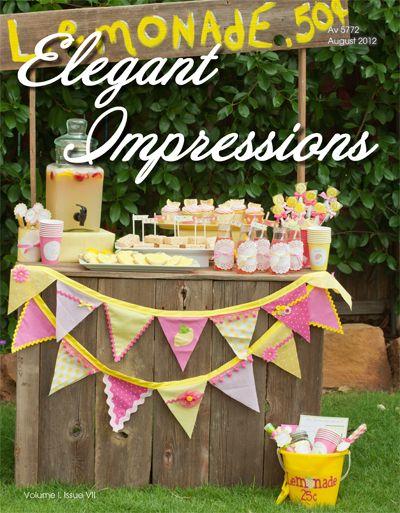 Blog con ideas para fiestas.  Elegant Impressions August 2012