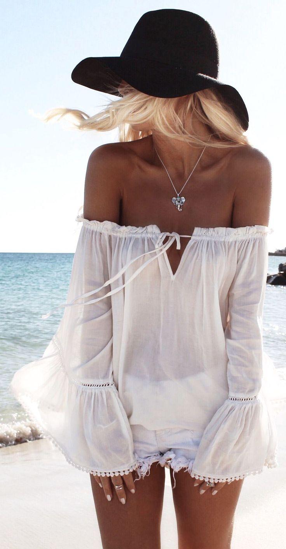 White Bandeau Top Beach Style